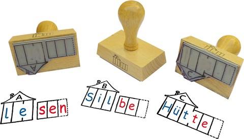 Stempel-Set: ABC der Tiere – Häuschen A, B, C